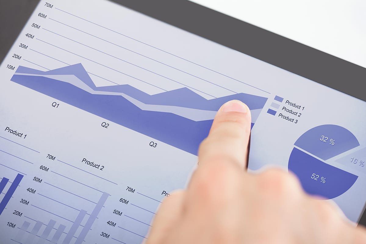 Analytics use on a tablet Image
